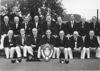 Top row from the left Arthur Ball, Dick Guest, Ron Barston, Taffy Morgan, Jack Nown (one of twins to brother Frank), ?, ?, ? Seated from the left Jack Lingham, Charlie Collins, Mr James ,? ,My Father, Frank Webster, ?
